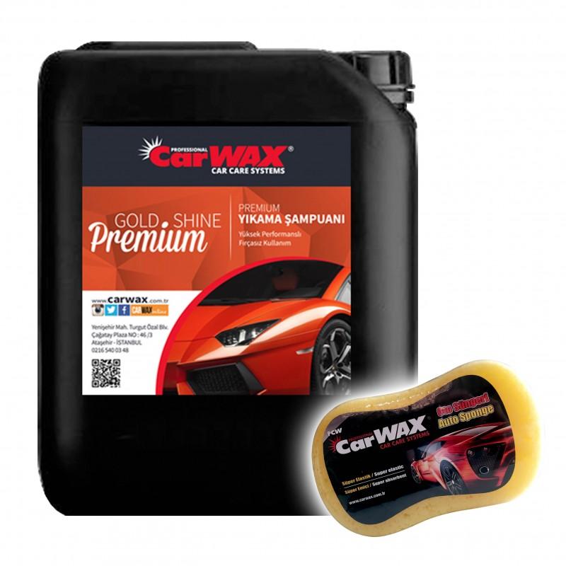 Carwax Premium Yıkama Şampuanı - Premium Shampoo - 5 KG UYGULAMA SÜNGERİ HEDİYE